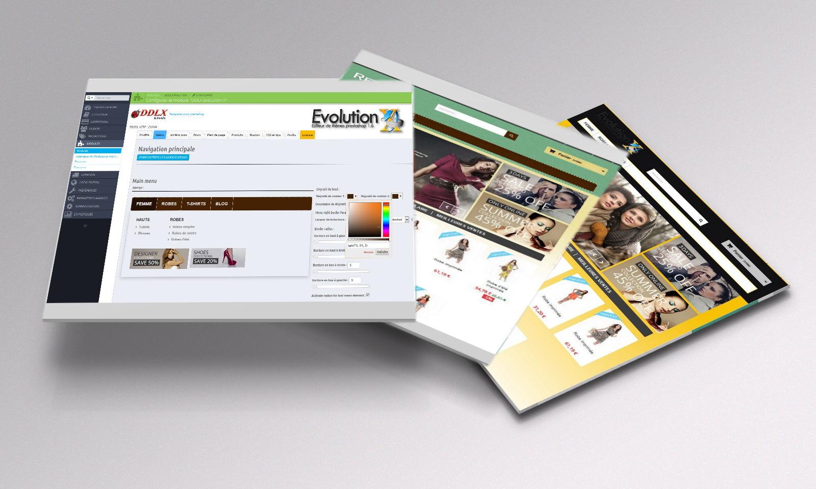 Intégration du EVOLUTION-X au nouvelles E-commerce BOX